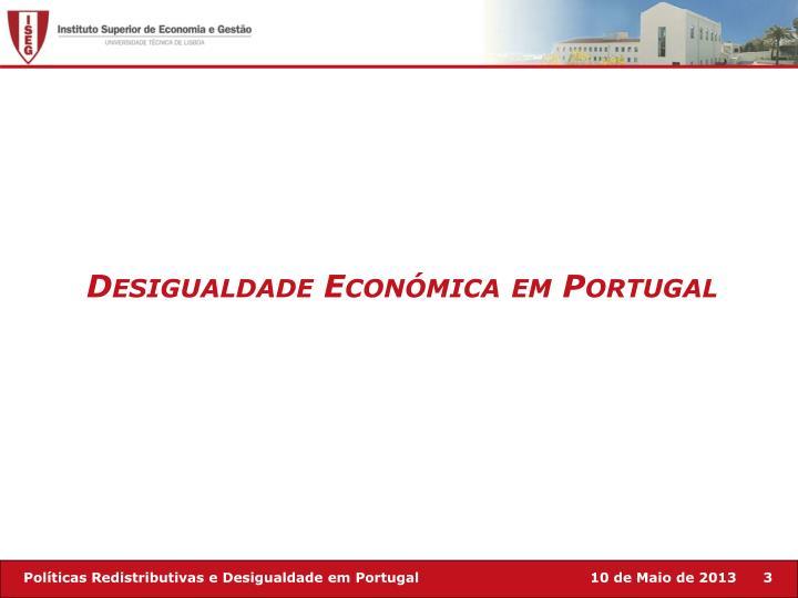 Desigualdade Económica em Portugal