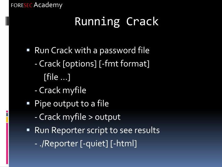 Running Crack