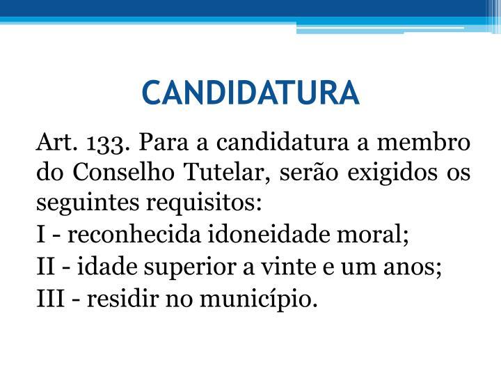 CANDIDATURA
