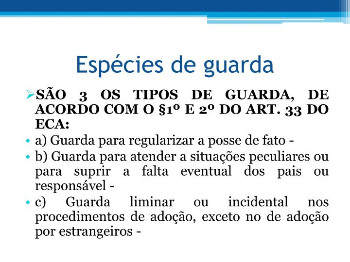 Espécies de guarda