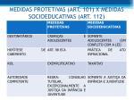 medidas protetivas art 101 x medidas socioeducativas art 112