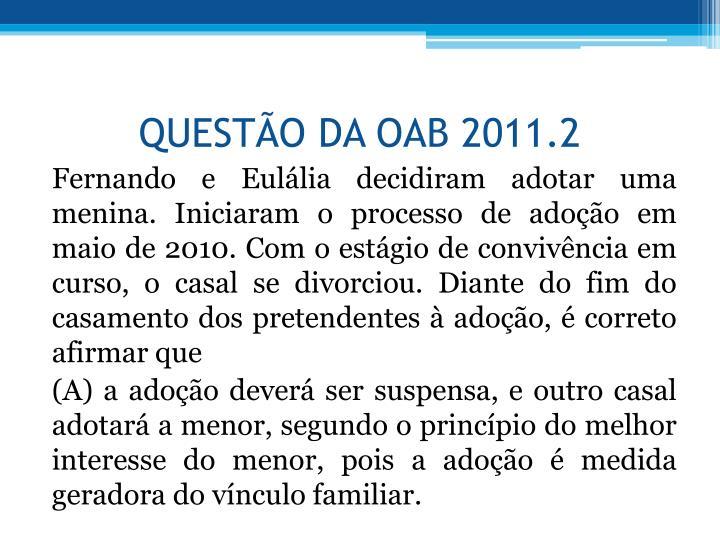 QUESTO DA OAB 2011.2