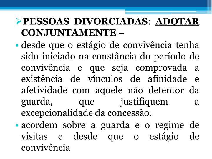 PESSOAS DIVORCIADAS