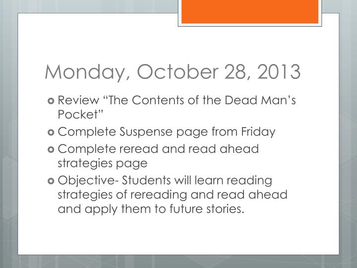 Monday, October