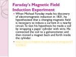 faraday s magnetic field induction experiment