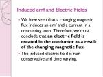 induced emf and electric fields