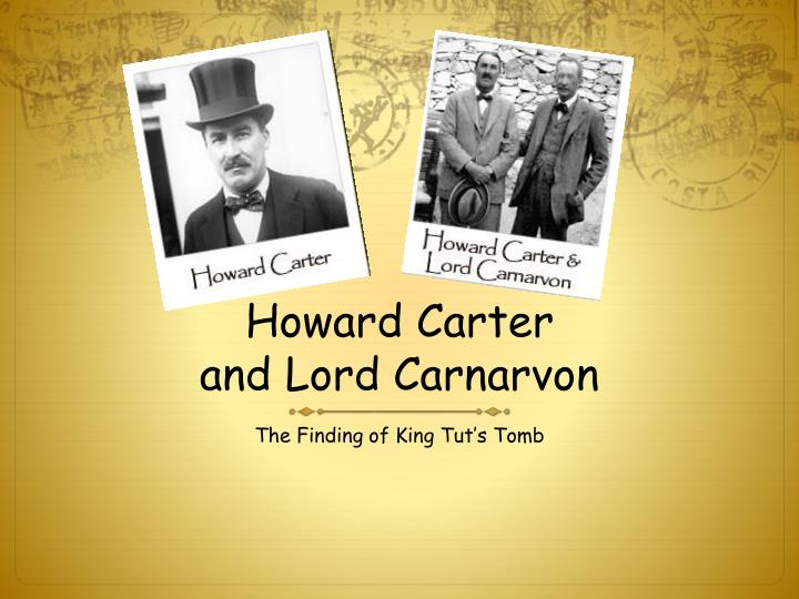 Howard carter and lord carnarvon