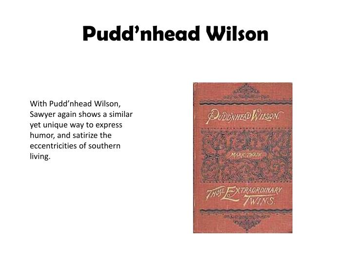 pudd nhead wilson essay Pudd'nhead wilson lesson plans include daily lessons, fun activities, essay topics, test/quiz questions, and more everything you need to teach pudd'nhead wilson.