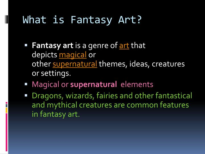 What is fantasy art