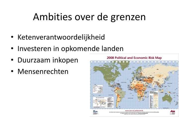 Ambities over de grenzen