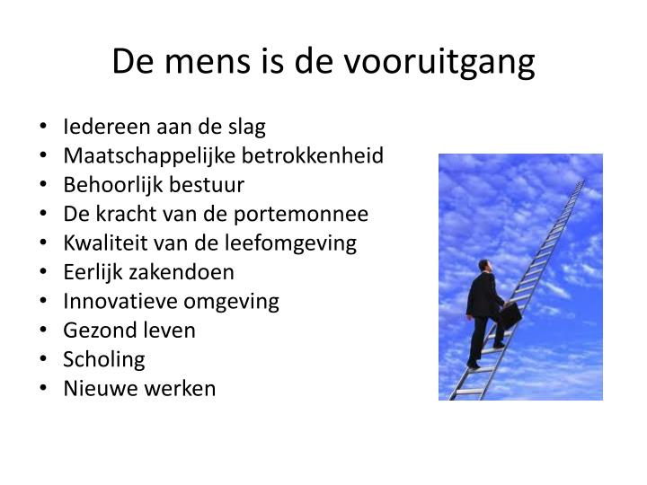 De mens is de vooruitgang