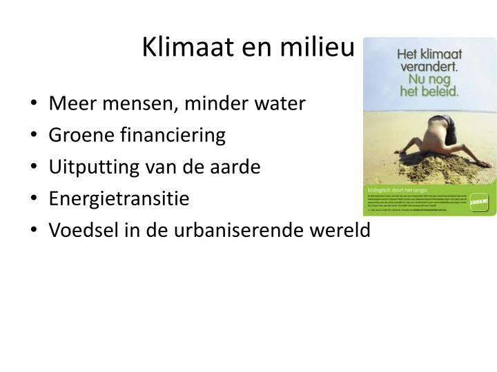 Klimaat en milieu