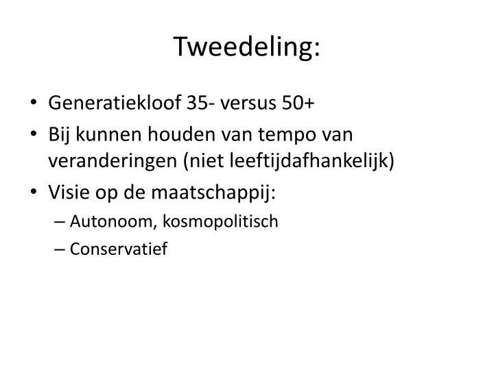 Tweedeling: