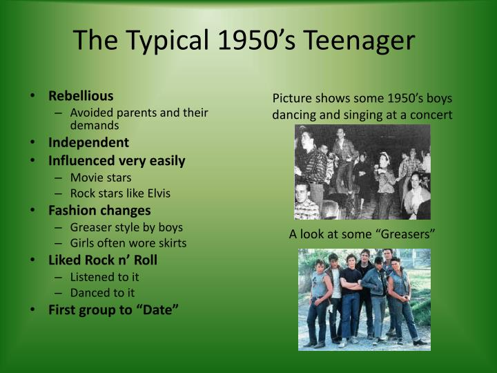 The typical 1950 s teenager