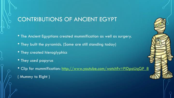 Contributions of ancient Egypt