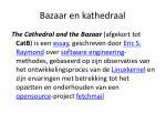 bazaar en kathedraal