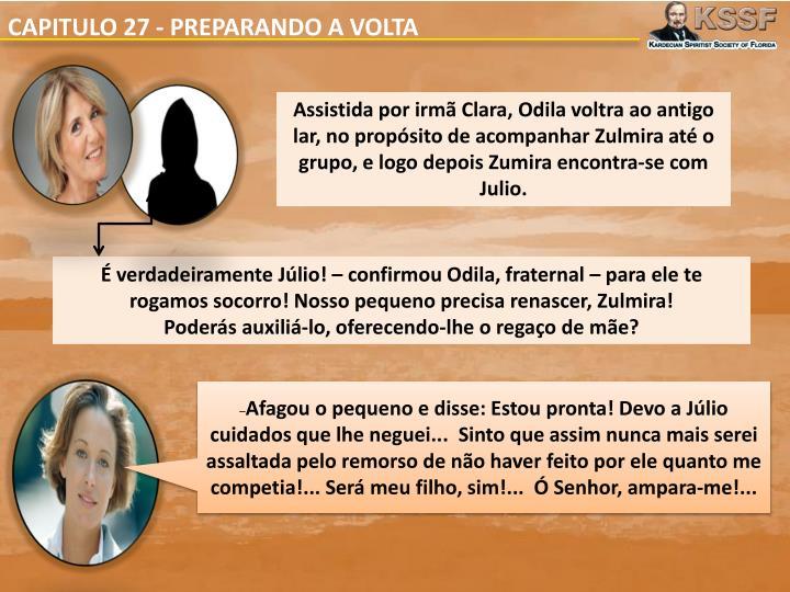 CAPITULO 27 - PREPARANDO A VOLTA
