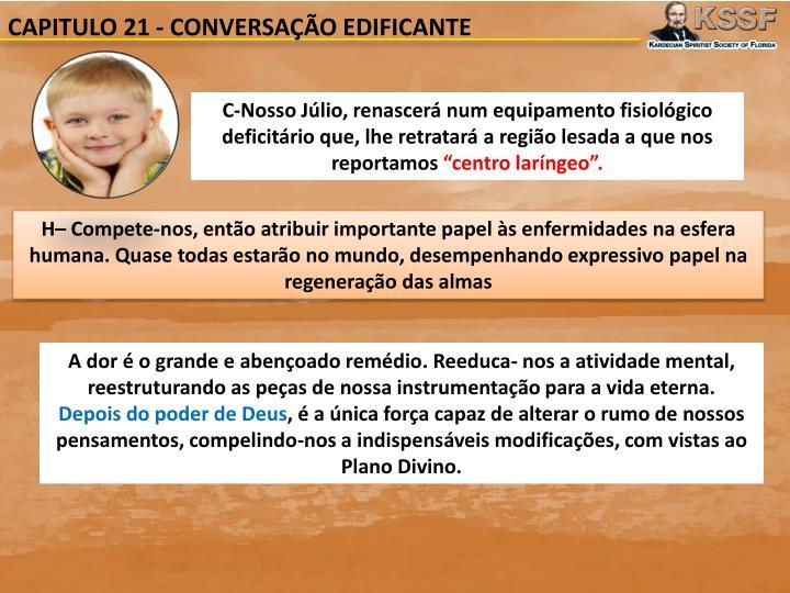CAPITULO 21 - CONVERSAÇÃO EDIFICANTE