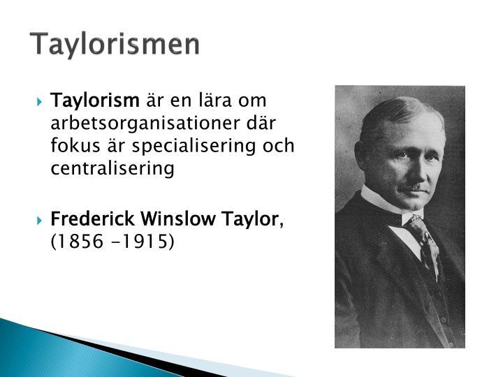 Taylorismen