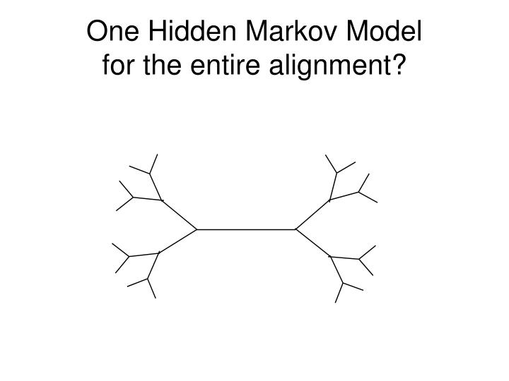 One Hidden Markov Model