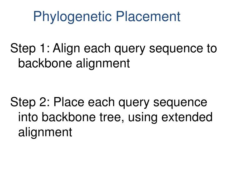 Step 1: Align each query sequence to backbone alignment