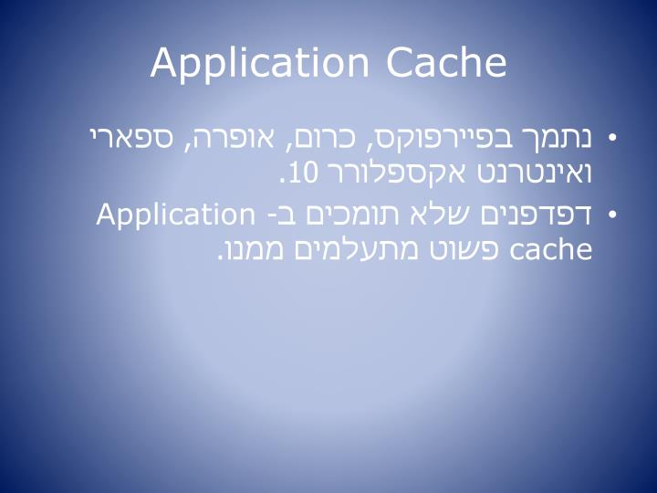 Application Cache