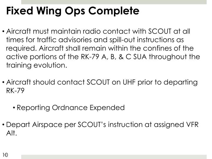 Fixed Wing Ops Complete