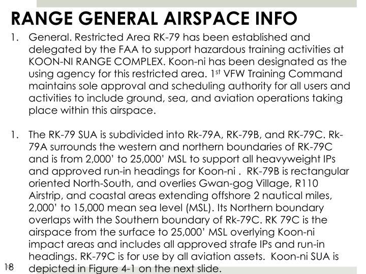 RANGE GENERAL AIRSPACE INFO