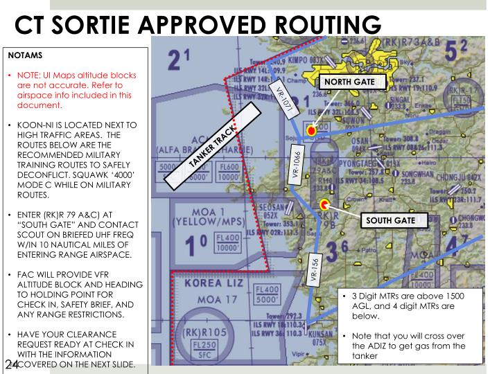 CT SORTIE APPROVED ROUTING