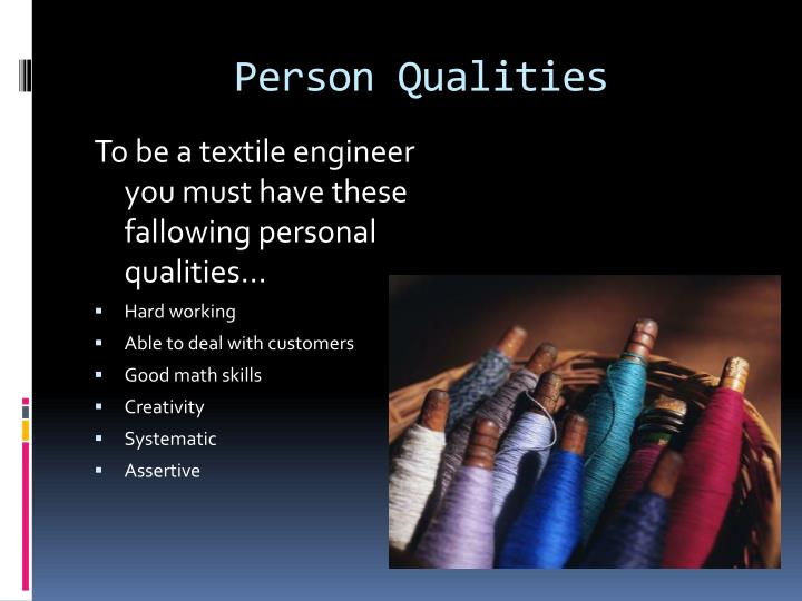 Person Qualities