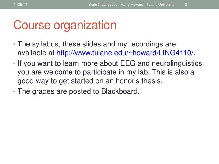 Brain & Language - Harry Howard - Tulane University