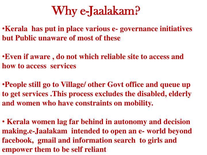 Why e-Jaalakam?