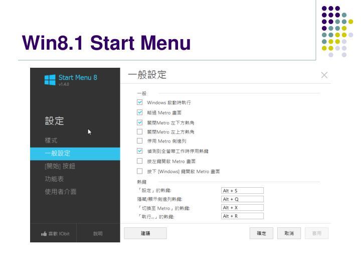 Win8.1 Start Menu
