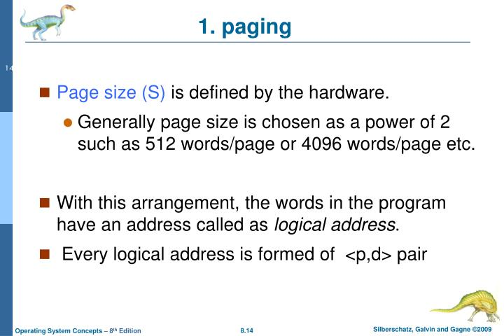 Page size (S)