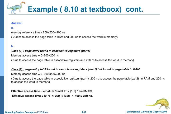 Example ( 8.10 at