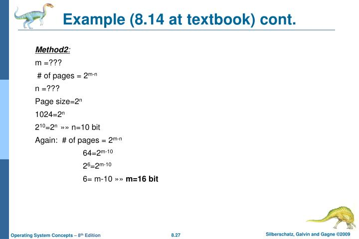 Example (8.14 at