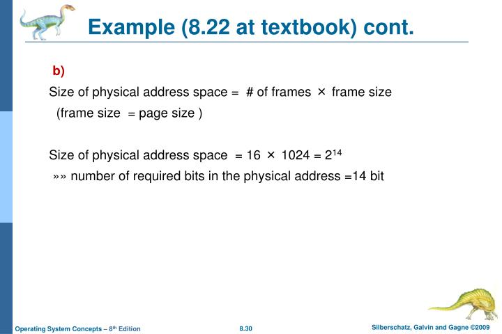 Example (8.22 at textbook) cont.