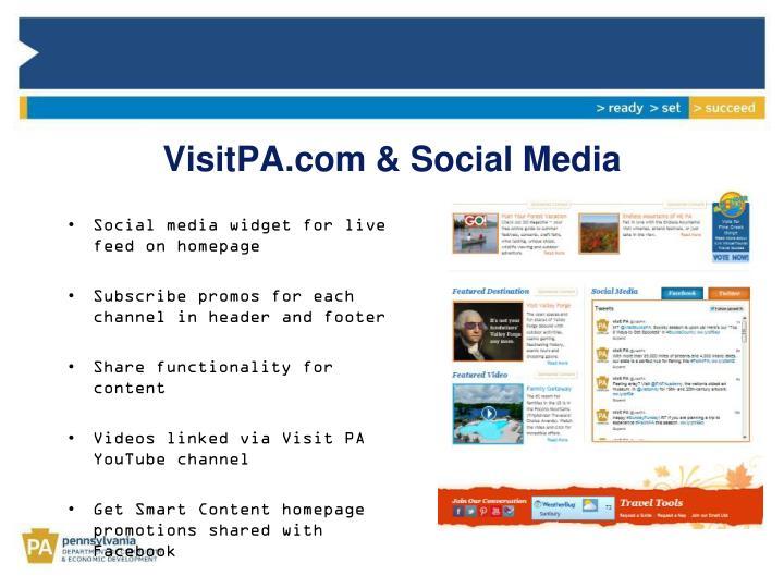 VisitPA.com & Social Media
