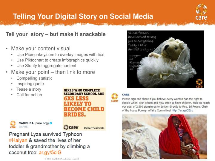Telling Your Digital Story on Social Media