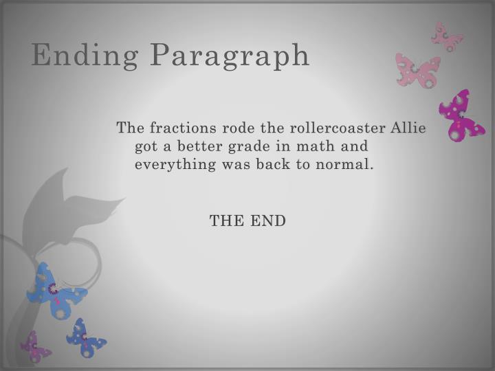 Ending Paragraph