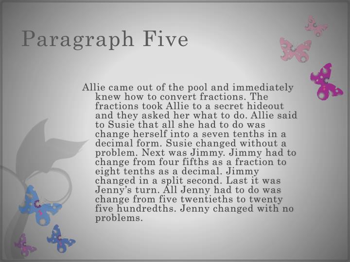 Paragraph Five