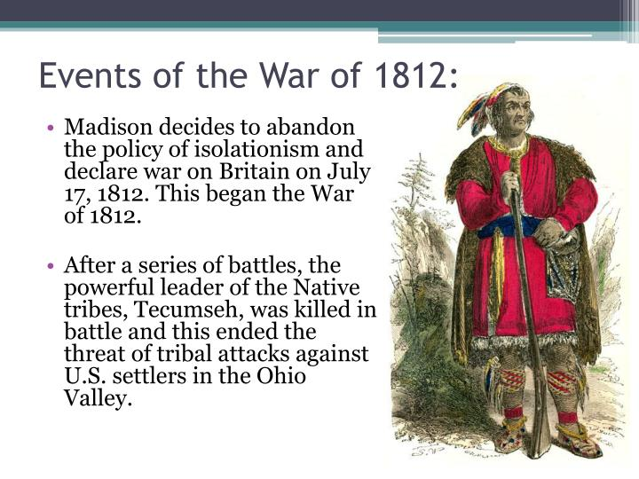 Events of the War of 1812: