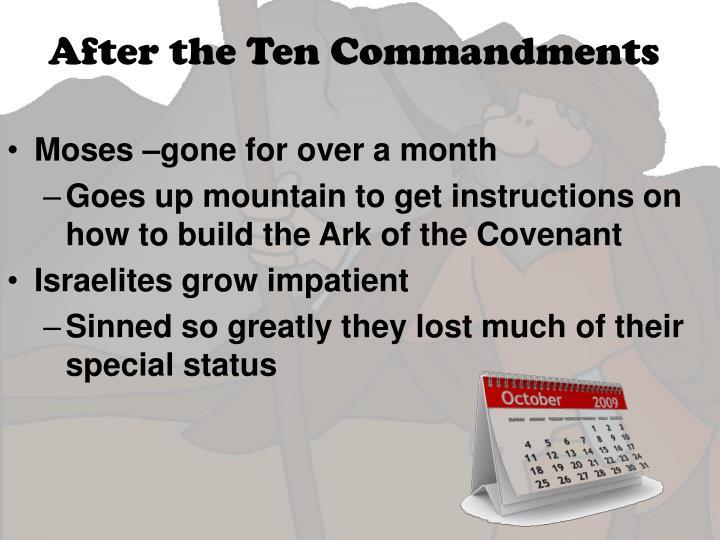 After the Ten Commandments