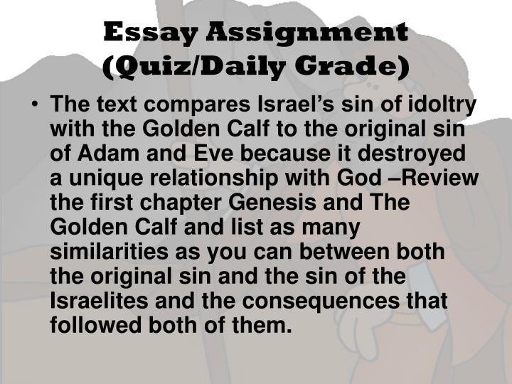 Essay Assignment (Quiz/Daily Grade)