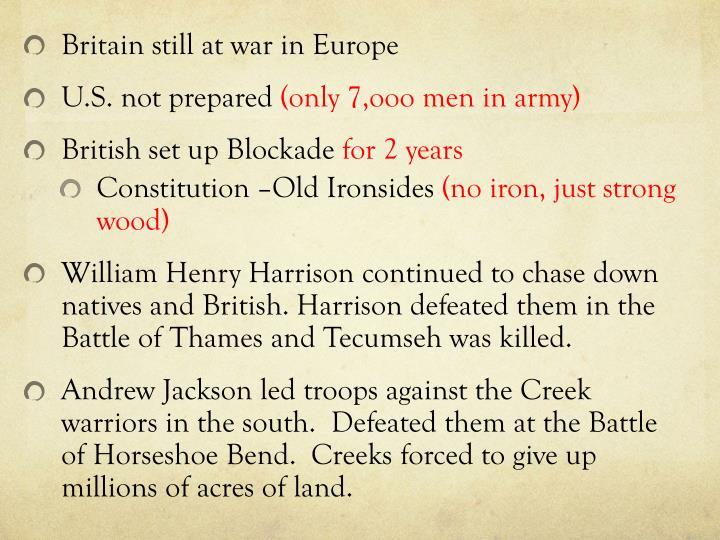 Britain still at war in Europe