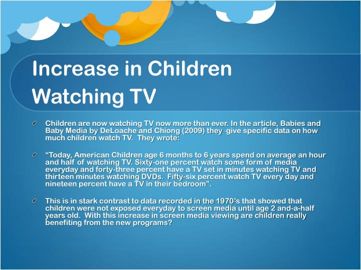 Increase in Children Watching TV
