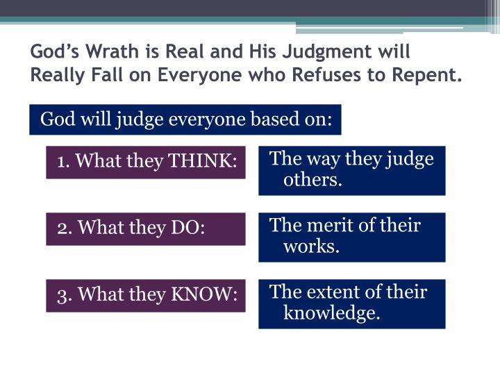 God's Wrath is Real and His Judgment will Really Fall on Everyone who Refuses to Repent.