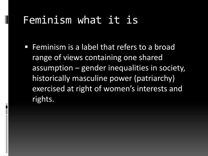 Feminism what it is