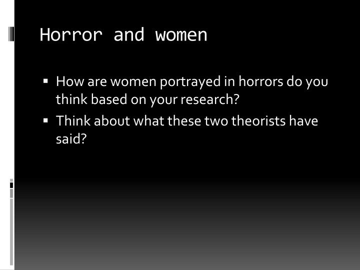 Horror and women
