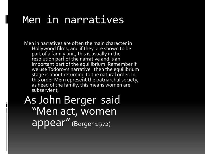 Men in narratives